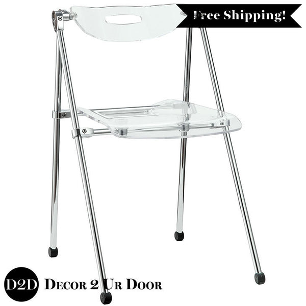 Modern Clear Acrylic Ghost Folding Chair