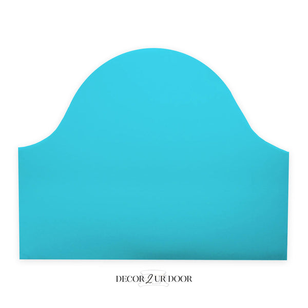 Solid Mandarin Blue Padded Fabric Headboard