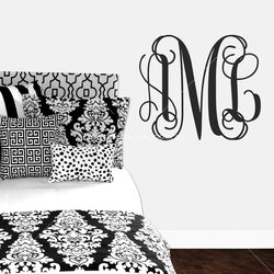 Vine Monogram Personalized Vinyl Wall Decal