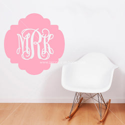 Vintage Monogram Personalized Vinyl Wall Decal