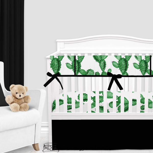 Watercolor Cactus Gender Neutral Crib Bedding Set