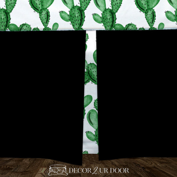 Watercolor Cactus Baby Crib Skirt