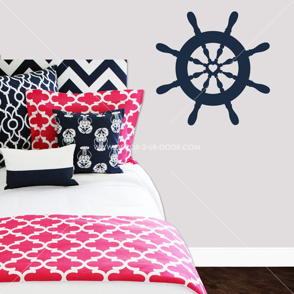 Ship Wheel Nautical Vinyl Wall Decal