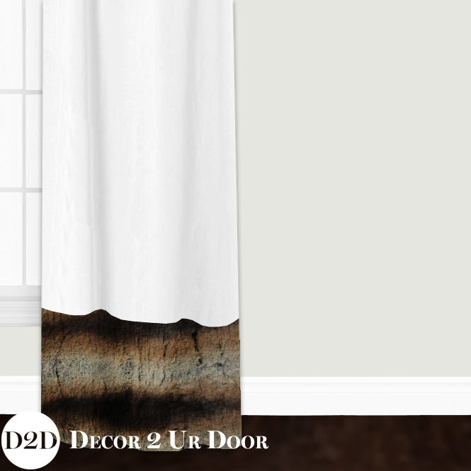 Brown Fur Closet + Window Curtain