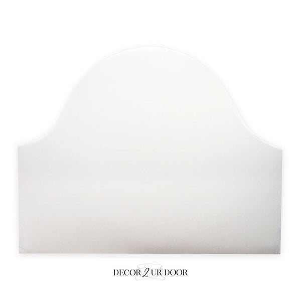 Solid White Padded Fabric Headboard