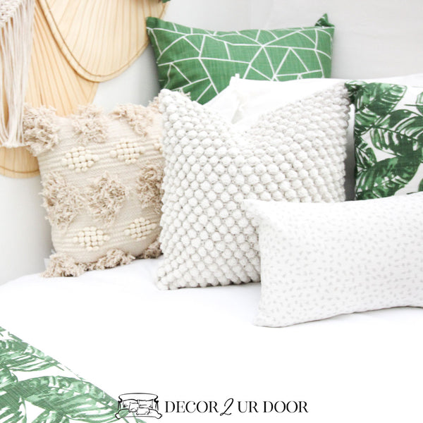 Emerald Green Geometric Euro Pillow Cover
