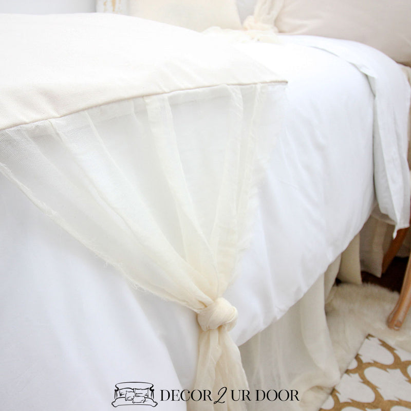 White and Ivory Cheesecloth Designer Bedding Collection