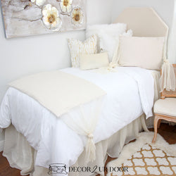 Ivory Cheesecloth Dorm Bedding Set
