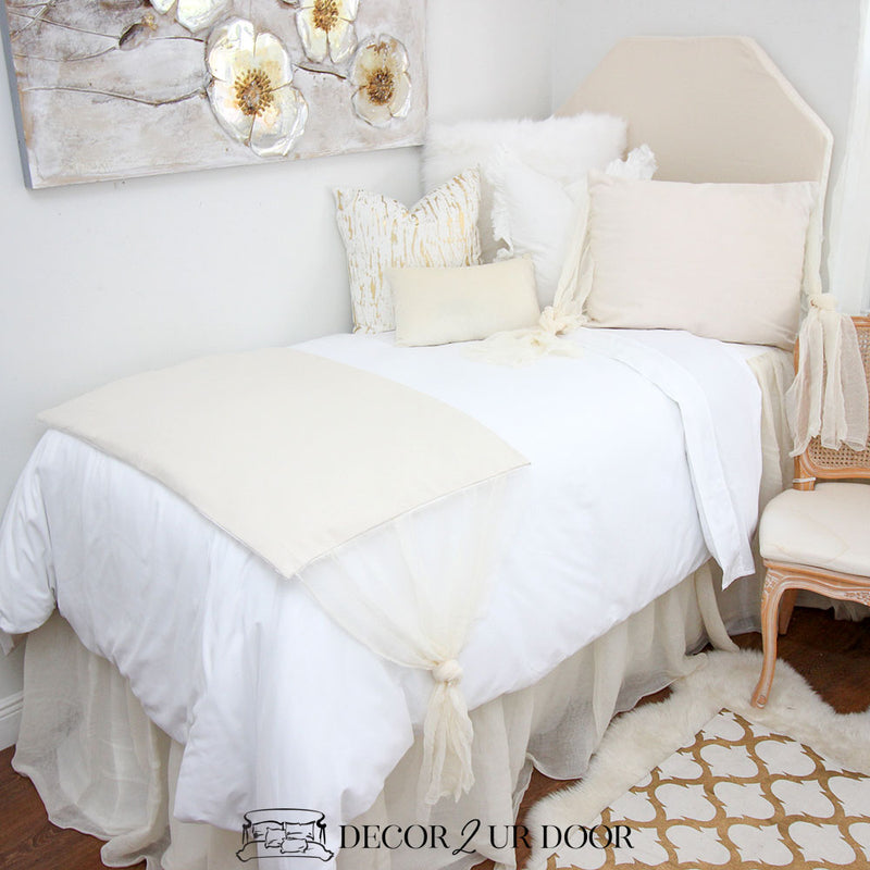 Ivory Cheesecloth Designer Sham