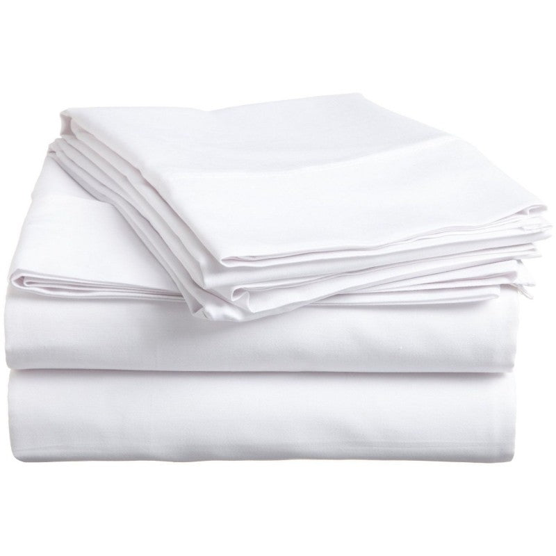 Solid White 300 Thread Count 100% Cotton Sheet Set