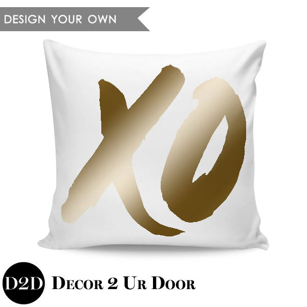 XO Square Pillow Cover