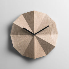 lawa design modern scandinavian oak wall clock