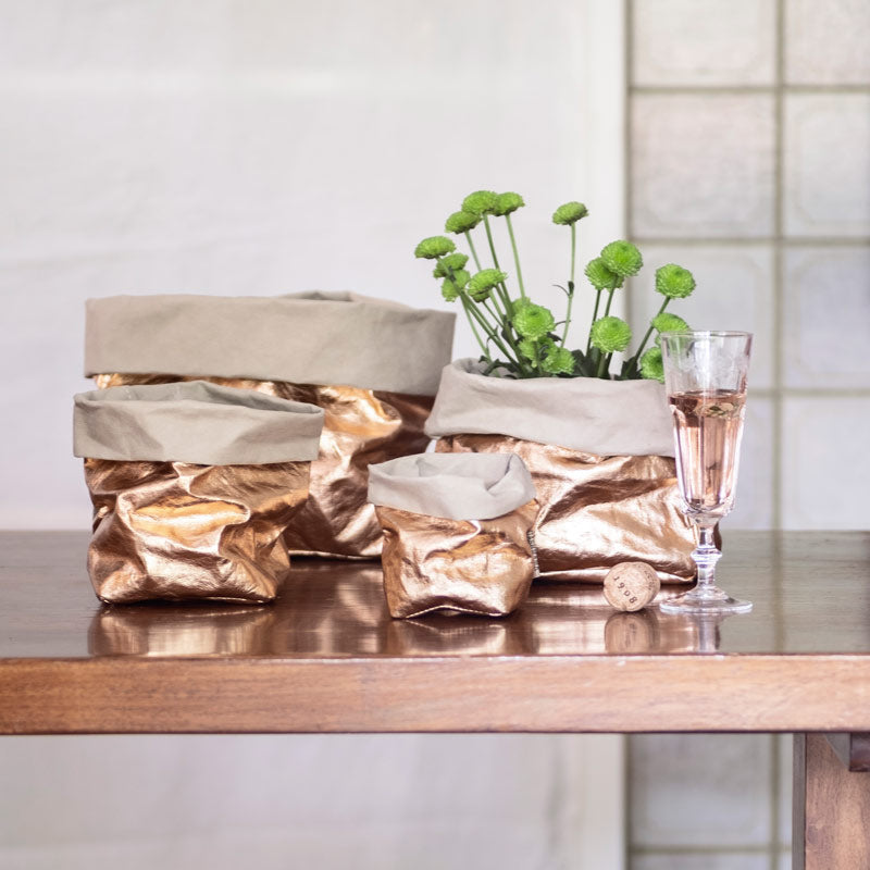 reusable metallic paper bags Uashmama