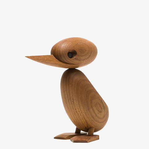 Scandinavian ArchitectMade teak duck wooden figure