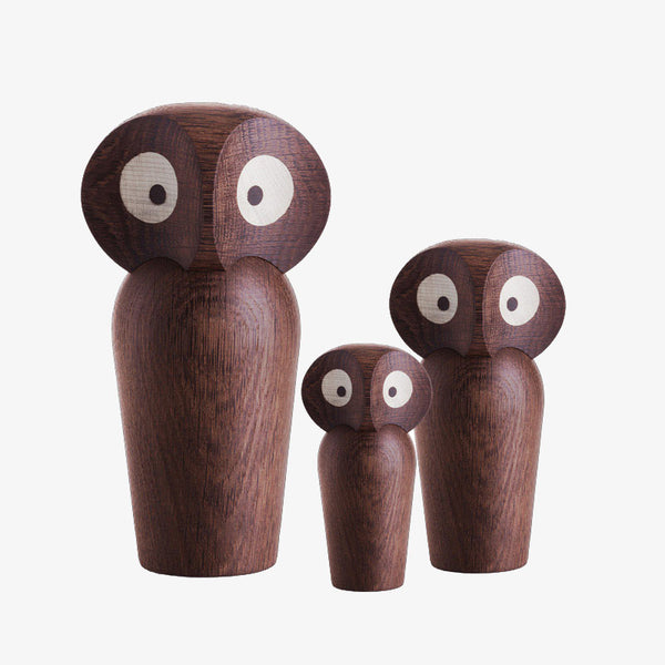ArchitectMade smoked oak Owl wooden figure