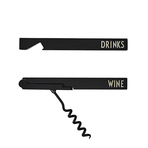 Design Letters Bottle Opener Cork Screw Set