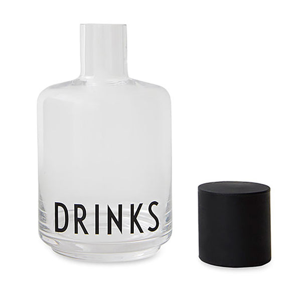 Design Letters Carafe with Arne Jacobsen font Drinks