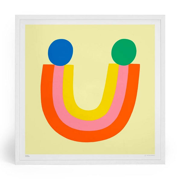 All Smiles by Susie Hammer for Evermade rainbow NHS charitable print