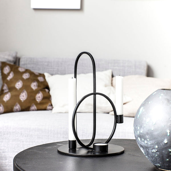 House Doctor Cirque Candle Stand Black