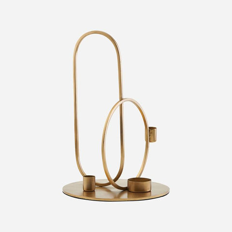 House Doctor Cirque Ornament Candle Stand Brass