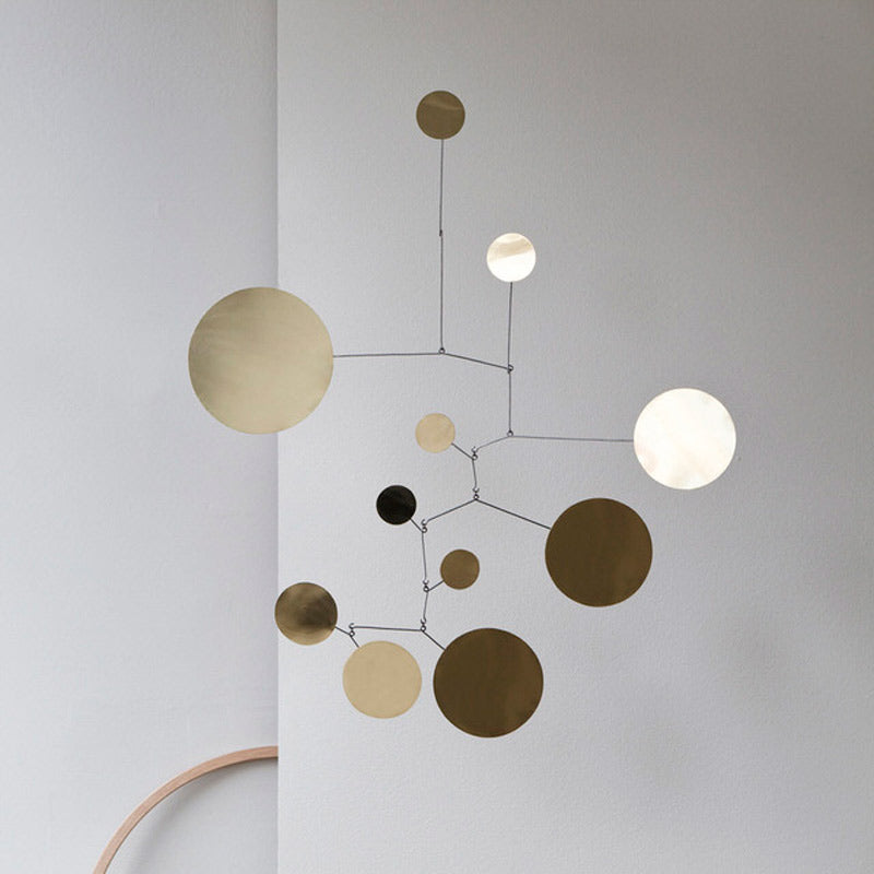 Lappalainen Circles Hanging Mobile Brass