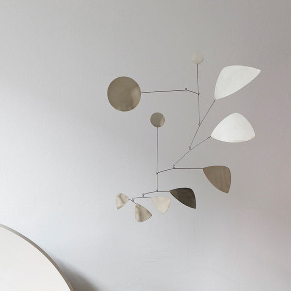Lappalainen Leaves hanging Mobile Silver