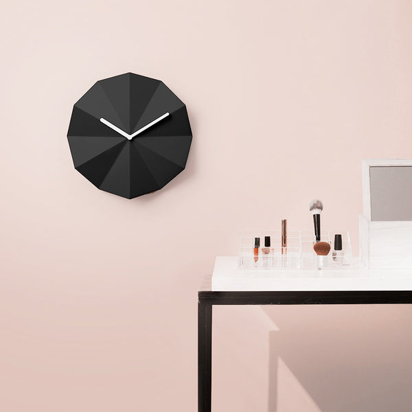 Danish brand Lawa Design Delta clock in black