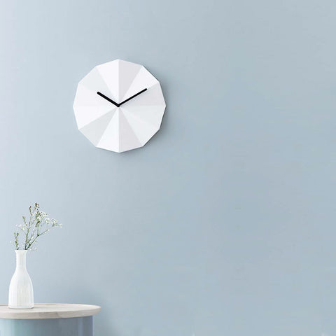 Danish brand Lawa Design Delta clock in white