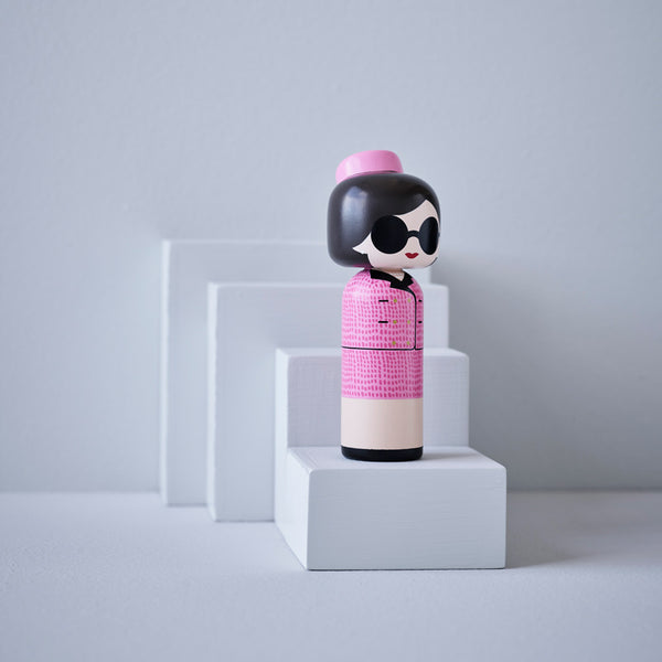 Jackie Kennedy Onassis kokeshi doll sketch inc for Lucie Kaas