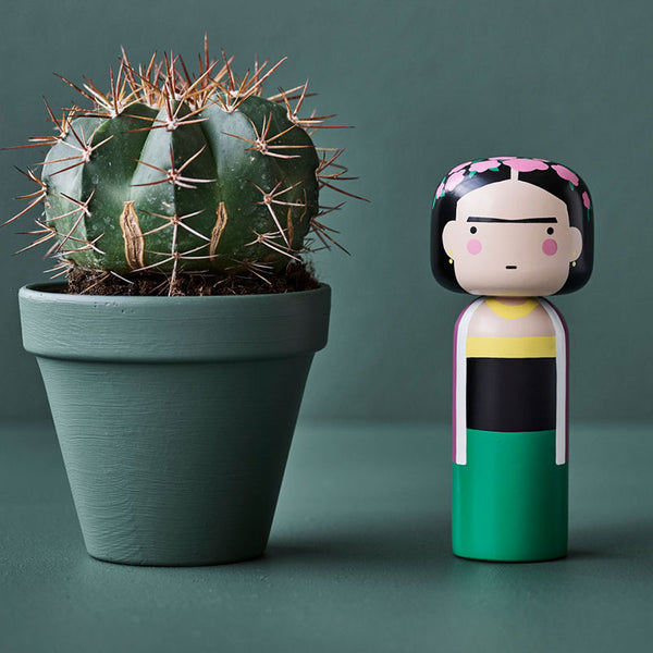 Modern Kokeshi doll Frida Kahlo by Sketch Inc for Scandinavian brand Lucie Kaas