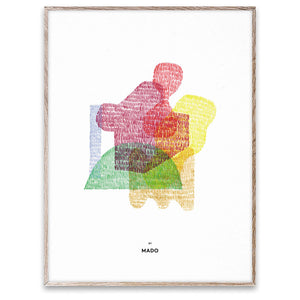 MADO poster Abstract 02 for modern scandinavian nursery