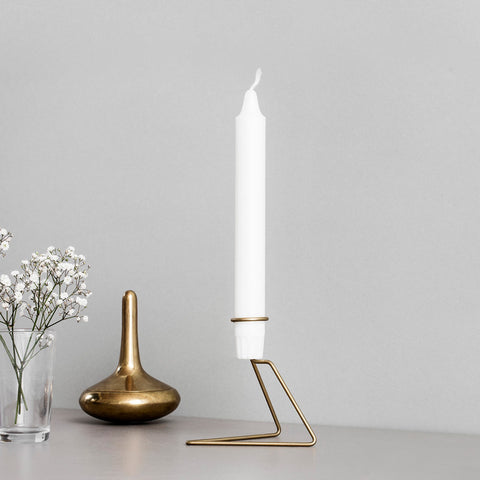 Moebe Candlelight Scandinavian brass candle holder