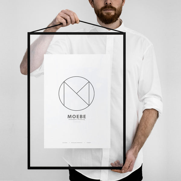 Scandinavian brand Moebe transparent frame black