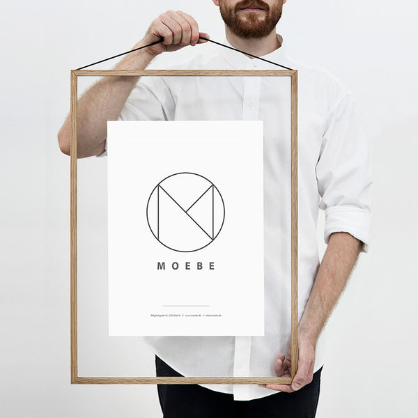 Scandinavian brand Moebe transparent frame oak