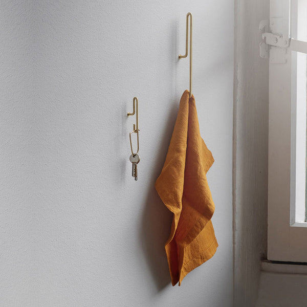Scandinavian brand Moebe wall hook brass black