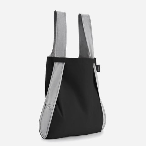 Notabag grey black stylish tote backpack