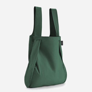Notabag eco frindly tote bag rucksack in Forest Green