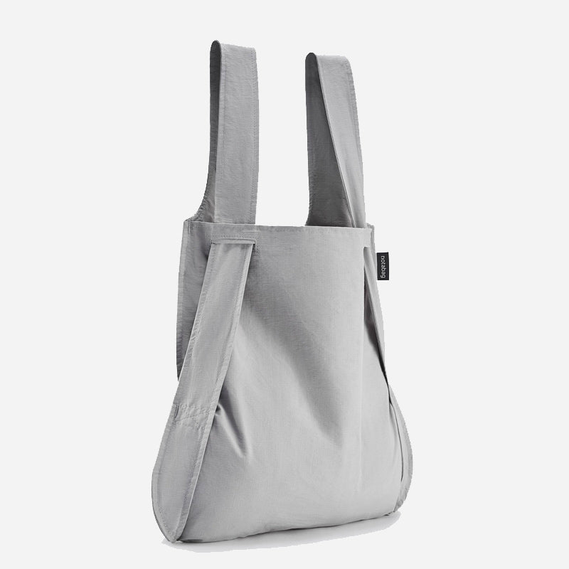 Notabag Grey stylish eco friendly tote and backpack