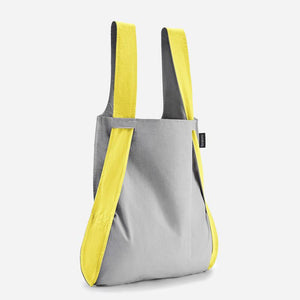 Notabag yellow grey stylish tote backpack