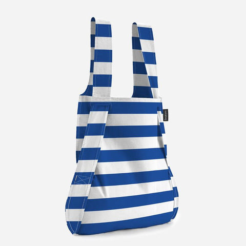 Notabag marine stripes stylish tote backpack