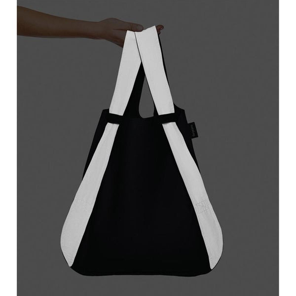 Notabag reflective black grey stylish tote backpack