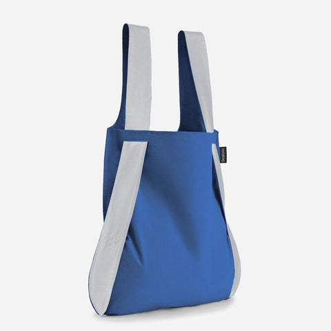 Notabag reflective blue stylish tote backpack