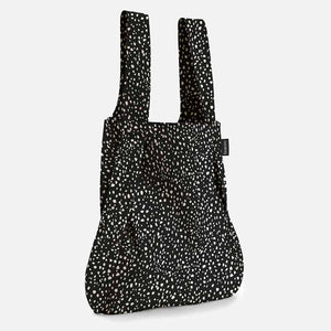 Notabag tote bag backpack in black sprinkle