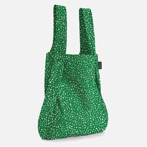 Notabag tote bag backpack in green sprinkle