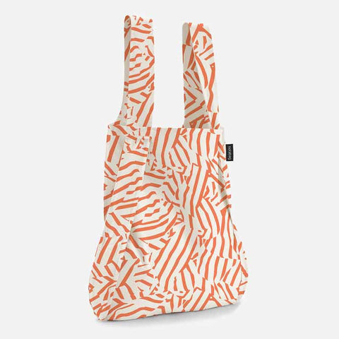 Notabag tote bag backpack in peach twist design