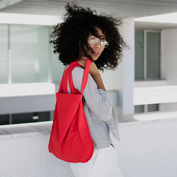 Notabag tote bag rucksack in red