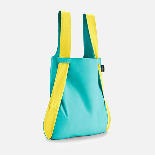 Notabag Yellow & Mint 2 in 1 back and backpack