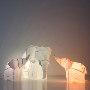 Baby Elephant DIY Paperlamp from Owl Paperlamps