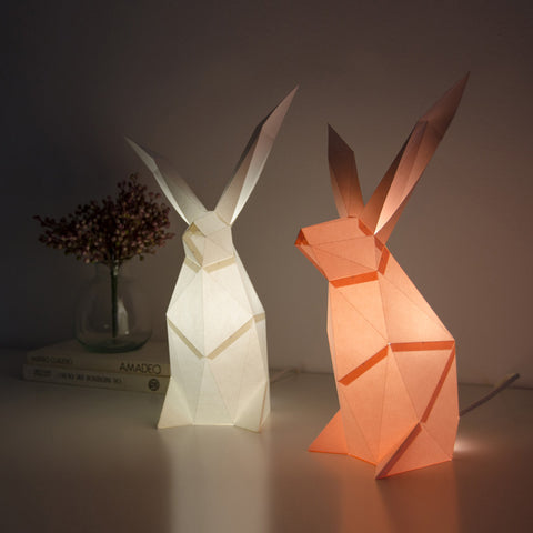 Rabbit lamp DIY kit from Owl Paperlamps