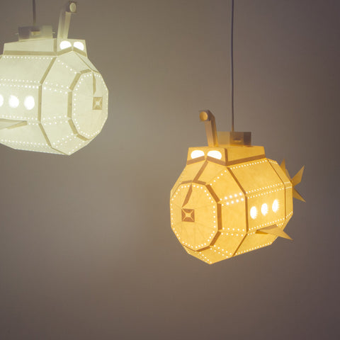 Submarine DIY Pendant Paperlamp